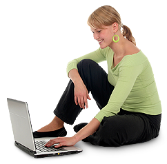 Image of woman using a laptop.